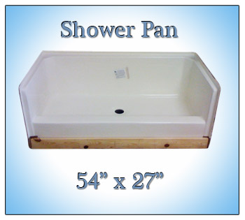 how to fix a leaking fiberglass shower pan