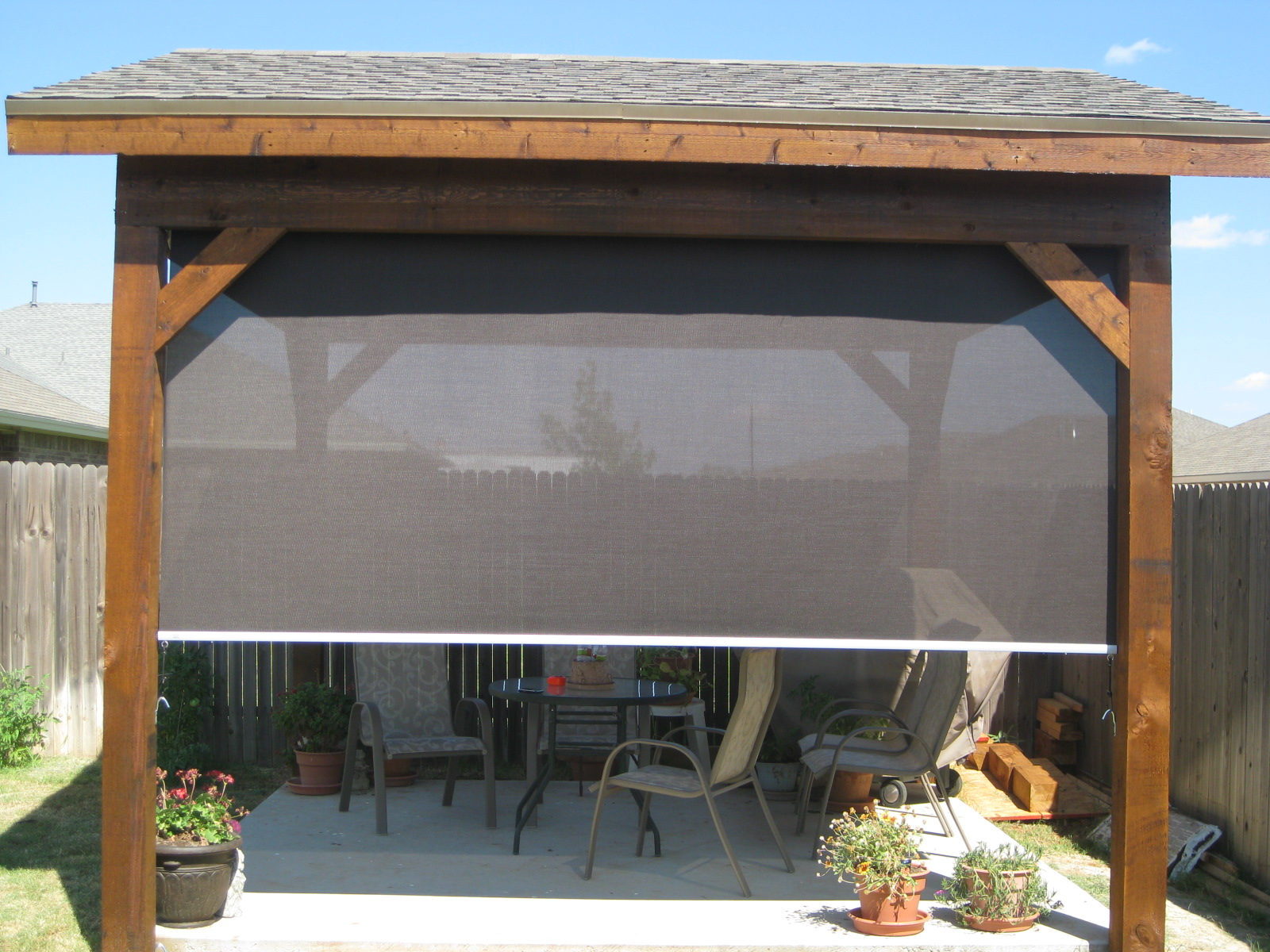 Tucson Patio Roller Shades - Keep Cool Without Blocking the Sun!