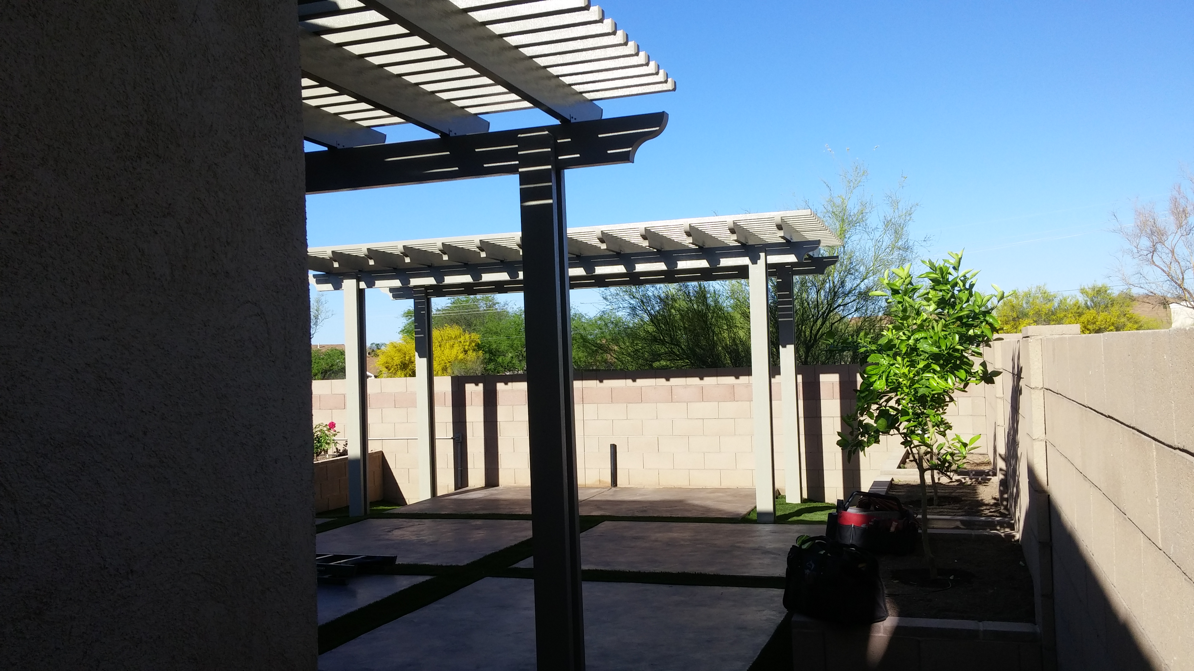 Pergola After M Amp M Home Supply Warehouse